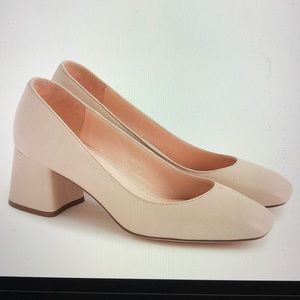 JCrew Celia Leather Pumps Toasted Almond 6.5 NWT